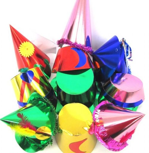 50 Party Hats Shaped Foil Assorted New Years eve